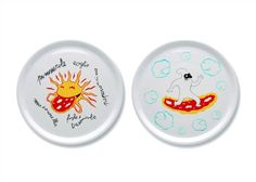 """A du Alessi - Dream Factory 12.2"""" Pizza Plates by Massimo Giacon"""