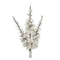 Large Hollyhock - Set of 3 - White | Stemmed-floral | Botanicals-plants | Accessories | Decor | Z Gallerie