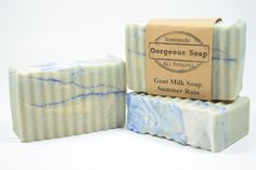 LOOK new Summer Rain goat milk soap!! This amazing soap smells like the garden after the rain and leave you feeling refreshed, clean, and rejuvenated!  #summer #rain #summerrain #goatmilksoap #soap #goatsoap #soaps #goatsmilksoap #handmade #homemade #handcrafted #natural #naturalsoap #handmadesoap #homemadesoap #handcraftedsoap #healthyskin #skin #skincare #skincareproducts #skincaretips #awesome #allnatural #gorgeous #soapmaker #soapshare #soapmaking #summertime