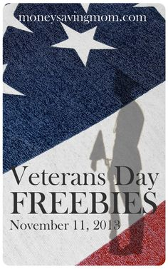 Veterans Day Freebies 2013 -- Check out this LONG list of great freebies available to military members and veterans! Thank you for your service!