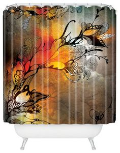 Iveta Abolina Before The Storm Shower Curtain eclectic-shower-curtains