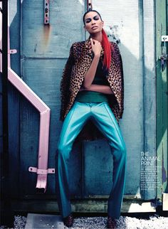 Chanel Iman in high fashion editorials | Sandi in the City