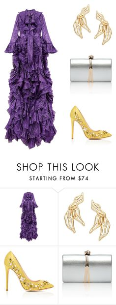 """Iridescent and cold"" by didiiidia on Polyvore featuring Gucci, Oscar de la Renta and GEDEBE"