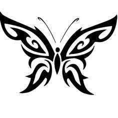 Tribal Butterfly Design Stencil - Various Sizes - Made From High Quality Mylar Tribal Tattoos, Tribal Butterfly Tattoo, Butterfly Tattoo Designs, Butterfly Design, Tatoos, Cross Tattoos, Polynesian Tattoos, Estilo Tribal, Stencil Patterns