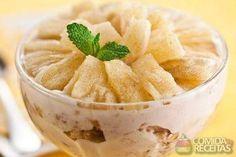 Receita de Pavê de abacaxi com panetone em receitas de paves, veja essa e outras receitas aqui!