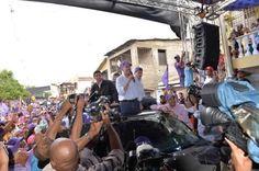 El presidente de la República y candidato a la reelección del Partido de la Liberación Dominicana (PLD) y del Bloque Progresista, Danilo Medina, reiteró el llamado a sus seguidores que acudan a