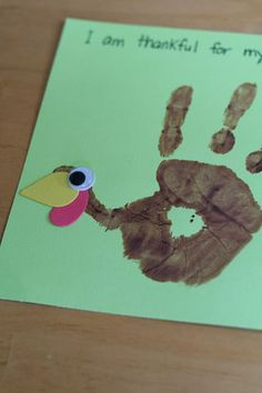 Turkey Craft. Never seen one  with googly-eyes before!