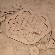 Triangles Laser Cut Wooden Geometric Puzzle 16 by TheCraftySmiths