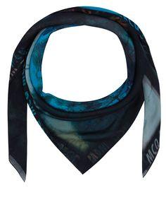 McQ Alexander McQueen Black Haze Palm Print Scarf | Accessories | Liberty.co.uk