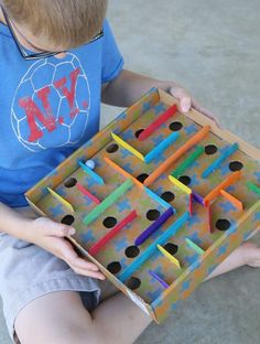 How to Make a Cardboard Box Marble Labyrinth Game