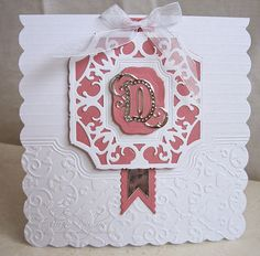 I've two cards to share today using the beautiful Pretoria Alphabet from Tonic Studios. I opted for single initials b. Card Making Inspiration, Making Ideas, Tonic Cards, Studio Cards, Alphabet Cards, Birthday Cards For Women, Embossed Cards, Die Cut Cards, Mothers Day Cards