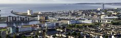 Great panoramic shot of Swansea City and the Bay.