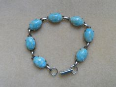 Vintage Bracelet of Faux Turquoise Made  by AprilSnowJewelry, $14.00