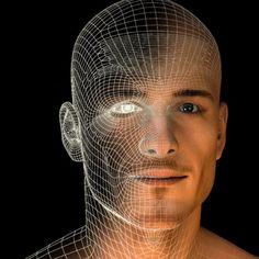 Render 3D, combinato graficamente col suo sviluppo wireframe in modo da suggerire la forma e come sua trasposizione lo sviluppo delle meshes e delle ombre.... #man #3d #wireframe