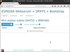 Web Server Tutorial ESP8266 (part 1): HTML interface code in pug (Jade), transfer of files to SPIFFS from IDE Arduino, Bootstrap theme
