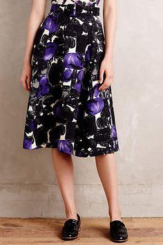 Plum Brambles Belted Skirt #anthroregistry