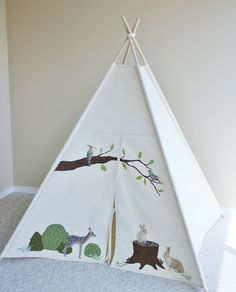 Forest Custom Canvas Play Tent Teepee Playhouse Prop