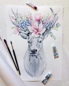 15.5 тыс. отметок «Нравится», 44 комментариев —  Watercolor blog (@watercolor.blog) в Instagram: « Watercolorist: @kadantsevanatalia  #waterblog #акварель #aquarelle #drawing #art #artist #artwork…»