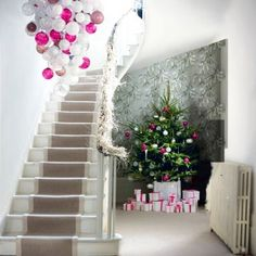 Christmas Chandeliers onParade - Christmas Decorating -would love this in the stairwell, probably in more traditional theme