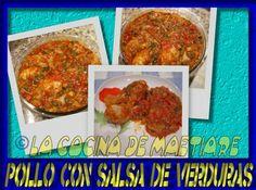 La cocina de Maetiare: Pollo con salsa de verdura