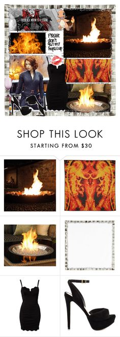 """""""Fire Me Up"""" by tiny-midnight-dreamer ❤ liked on Polyvore featuring Givenchy, The Outdoor GreatRoom Company, Kim Seybert, Glamorous, ALDO, Pier 1 Imports and FandomBattlesFour"""