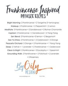 Find your inner frank with these frankincense inspired diffuser blends! Essential Oils Guide, Doterra Essential Oils, Young Living Essential Oils, Apothecaries, Diffuser Recipes, Essential Oil Diffuser Blends, Healthy Oils, Diffusers, Reflexology