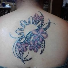 These pink sampaguita blossoms. Filipino Tribal Tattoos, Tribal Tattoos For Women, Samoan Tattoo, Polynesian Tattoos, Samoan Tribal, Thai Tattoo, Maori Tattoos, Bild Tattoos, Love Tattoos