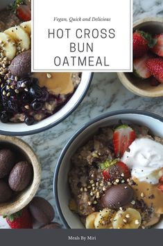 Hot Cross Bun Flavoured Oatmeal This recipe will get you ready for easter in no time!