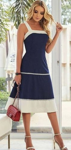 40 Ideas For Moda Femenina Fashion Chic Shirts Fall Dresses, Cute Dresses, Beautiful Dresses, Casual Dresses, Short Dresses, Summer Dresses, Kohls Dresses, Dresses Dresses, Wedding Dresses