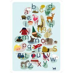 abcd poster voor kinderen