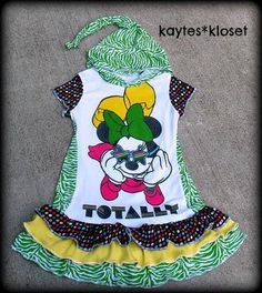 MInnie Mouse Upcycle Tee Dress