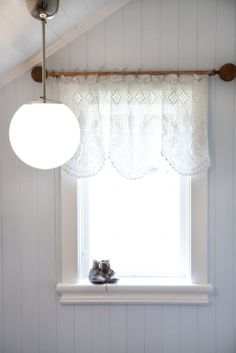 curtains attached with twine