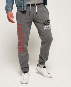 Shop Superdry Mens Track & Field Joggers in Santa Monica Grey Marl. Buy now with free delivery from the Official Superdry Store. Santa Monica, New Man Clothing, Track Suit Men, Superdry Mens, Mens Sweatpants, Track And Field, Mens Suits, Vintage Men, Jeans