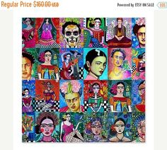 50% Off- Frida Kahlo Shower Curtains - Colorful Mexican Folk Art by Heather Galler Shower Curtain for Adult Bathroom