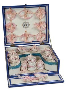 """""""For the Love of the Ladies"""" - French Porcelain Service in Original Well-Fitted Presentation Box"""