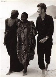 Iman, Miriam Makeba (Mama Africa) and David Bowie | Moment of happiness on a photograph