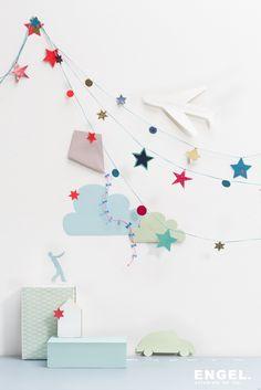 Stars DIY blue
