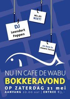 Poster ontwerp | www.jaccobuys.nl | Cafe de Wabu