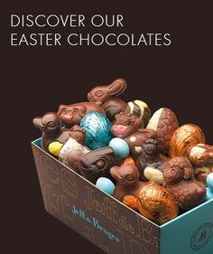 Toulouse: Jeff de Bruges Easter Chocolates.  Bruno Callens @ 9 rue du Lieutenant-Colonel Pelissier; or Virginie et Sarah @ 9 rue de Remusat