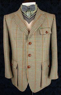 Mens Vtg Bladen Tweed Norfolk Shooting Hunting Jacket Blazer Brocklehurst L 42   eBay