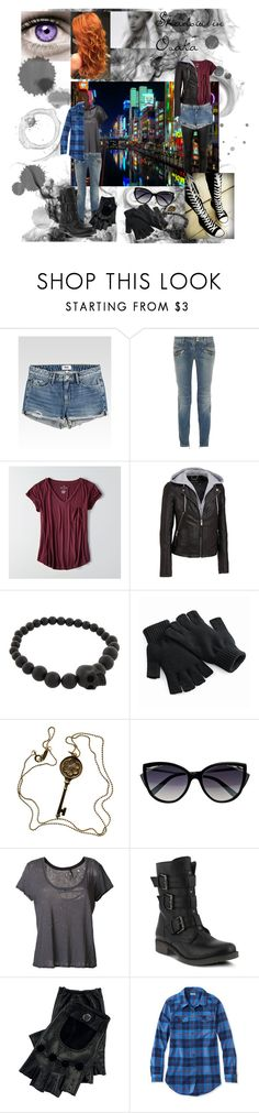 """shadow in Osaka"" by emilyoconnor24 ❤ liked on Polyvore featuring ARI, Krystal, Soaked in Luxury, Paige Denim, Balmain, American Eagle Outfitters, Wilsons Leather, Converse, Alexander McQueen and Tiffany & Co."