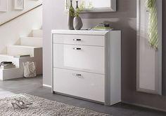 Meuble à chaussures blanc meubles de haute brillance miroir mis armoire à chaussures