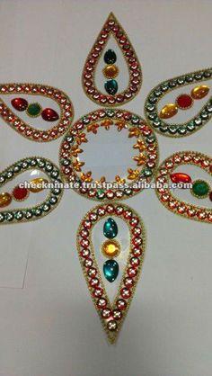 Diy cd rangoli how to make kundan rangoli with old cds for Diya decoration youtube