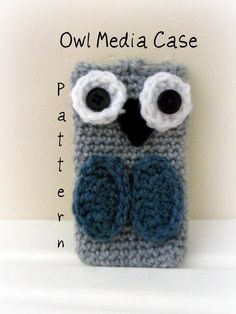 'Crocheting : Owl Media Case