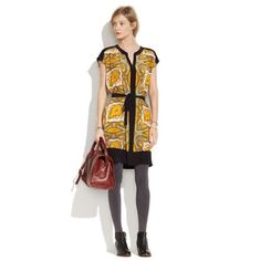 Madewell Paisleyview Silk Shirt Dress \\\\ Sz Xs