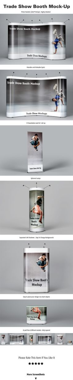 Exhibition Booth Mock Up : Images about roll up design on pinterest trade