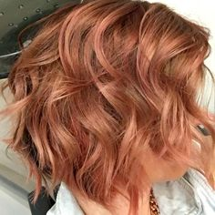 Rose Gold done with KEUNE Color Craving. By Jennifer Jeffrey Hair and Makeup