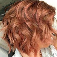 Rose Gold done with KEUNE Color Craving.  By Jennifer Jeffrey Hair and Makeup