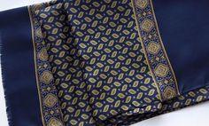 Vintage one sided silk scarf