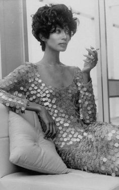 Donyale Luna was the world's first African American cover girl. She was known for her exquisqite 5-foot-11 frame, razor-edged bone structure, and almond-shaped eyes. In addition to modeling, she starred in many of Andy Warhol's underground films, as well as Federico Fellini's Fellini Satyricon (1970). She died tragically due to an accidental overdose at the age of 34.